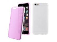 Husa silicon TPU Apple iPhone 6 Muvit MUSKI0470 Colorchanging roz transparent Blister Originala