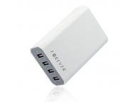 Statie priza USB x 4 porturi Forever 7.2A alba Blister