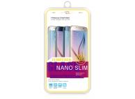 Folie Protectie ecran antisoc Samsung Galaxy S6 edge+ G928 Tempered Glass Full Face Aurie Glitter Blueline Blister