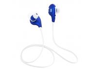 Handsfree Bluetooth Haweel Fashion Sport Alb Albastru Blister Original