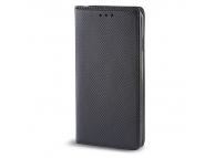 Husa piele Case Smart Magnet pentru telefon 5.5 - 5.7 inci, Dimensiuni interioare 155 x 75 mm, Neagra