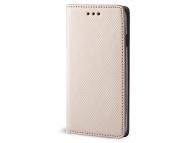 Husa piele Case Smart Magnet pentru telefon 5.5 - 5.7 inci, Dimensiuni interioare 155 X 75 Mm, Aurie