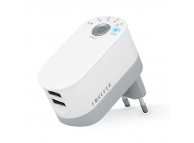 Adaptor priza Dual USB Forever Timer 2.2A Alb Blister