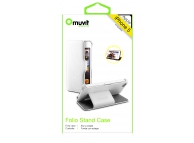 Husa piele Apple iPhone 5 Muvit Folio Stand MUSSL0110 Alba Blister Originala