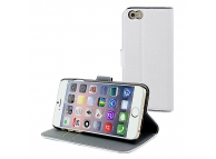 Husa piele Apple iPhone 6 Muvit Wallet MUSNS0071 Alba Blister Originala