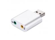 Placa De Sunet USB Virtual 7.1 CZH-H077 Argintie