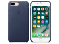 Husa piele Apple iPhone 7 Plus MMYG2ZM Bleumarin Blister Originala