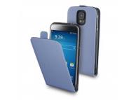 Husa piele Samsung Galaxy S5 G900 Muvit Slim MUSLI0462 Albastra Blister Originala