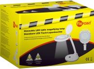 Lampa LED cu lupa FixPoint 45274 alba Blister Originala
