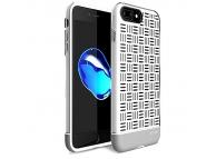 Husa silicon TPU Apple iPhone 7 Usams Landwind Alba Blister Originala