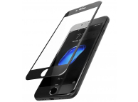 Folie Protectie ecran antisoc Apple iPhone 7 Plus Tempered Glass Full Face 3D neagra Blueline