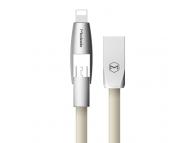 Cablu de date USB - MicroUSB Lightning McDodo CA-189 2in1 1m Auriu Blister Original