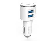 Incarcator Auto Dual USB MicroUSB Ldnio DL-C29 3.4A Alb Blister Original