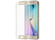 Folie Protectie ecran antisoc Samsung Galaxy S6 edge G925 Tempered Glass Full Face 3D aurie Blueline Blister