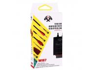 Cablu alimentare placa telefon cu conectori Apple Samsung USB MicroUSB si Crocodil W107