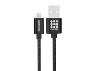 Cablu de date Apple iPhone 5 Haweel Woven HWL1025B 1m Blister Original