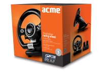 Volan Gaming USB Acme STi Racing negru argintiu Blister Original