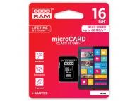 Card memorie GoodRam MicroSDHC 16Gb Clasa 10 UHS-1 Blister