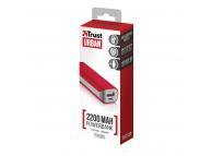 Baterie externa Powerbank Trust Primo 2200mA Rosie Blister Originala