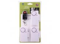 Set Senzor magnetic deschidere usa / fereastra cu alarma alb (3 bucati)