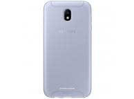 Husa Silicon TPU Samsung Galaxy J7 (2017) J730 Jelly Cover EF-AJ730TL Albastra Transparenta Blister Originala
