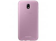 Husa Silicon TPU Samsung Galaxy J7 (2017) J730 Jelly Cover EF-AJ730TP Roz Transparenta Blister Originala