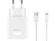 Incarcator retea USB Type-C Huawei AP81 2452310 Fast Charging Alb Blister Original