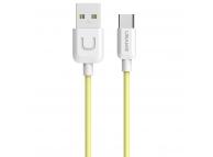 Cablu de date USB - USB Type-C Usams U Turn SJ099 Galben Blister Original