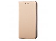 Husa piele Samsung Galaxy Grand Prime G530 Smart Magnet aurie