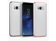 Husa silicon TPU Samsung Galaxy S8+ G955 Anymode Bling Argintie Blister Originala