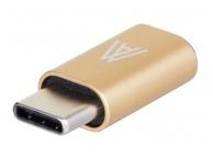 Adaptor USB Type-C - MicroUSB Anymode Auriu Blister Original