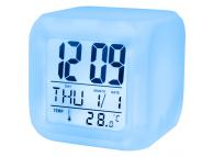 Ceas cu alarma si afisaj temperatura Setty albastru Blister