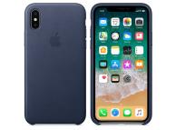 Husa piele Apple iPhone X MQTC2ZM bleumarin Blister Originala