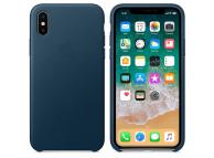 Husa piele Apple iPhone X MQTH2ZM albastra Blister Originala