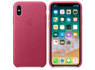 Husa piele Apple iPhone X MQTJ2ZM roz Blister Originala