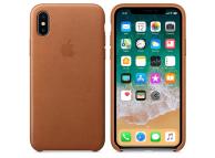 Husa piele Apple iPhone X MQTA2ZM maro Blister Originala
