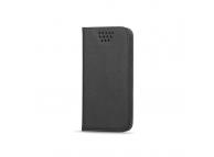 Husa piele Case Smart Magnet pentru telefon 4.7 - 5.3 inci, dimensiuni interioare 145 x 75 mm, Neagra