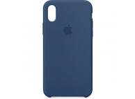 Husa silicon TPU Apple iPhone X MQT42ZM bleumarin Blister Originala