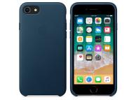 Husa piele Apple iPhone 8 MQHF2ZM bleumarin Blister Originala