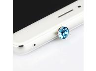 Protectie conector audio Jack 3.5 mm Diamond albastra