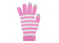 Manusi iarna Touchscreen Sensitive Marimea M roz albe