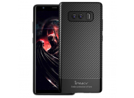 Husa silicon TPU Samsung Galaxy Note8 N950  iPaky Carbon Fiber Blister Originala