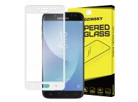 Folie Protectie ecran antisoc Samsung Galaxy J5 (2017) J530 WZK Tempered Glass Full Face alba Blister Originala