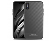 Husa silicon TPU Apple iPhone X iPaky Carbon Fiber Gri Blister Originala