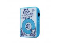 Mini MP3 Player cu casti si suport card microSD albastru Blister
