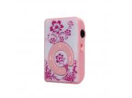 Mini MP3 Player cu casti si suport card microSD rosu Blister