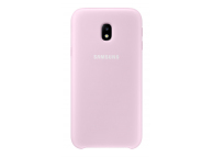 Husa plastic Samsung Galaxy J3 (2017) J330 Dual Layer EF-PJ330CPEGWW roz Blister Originala
