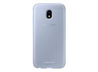 Husa Silicon TPU Samsung Galaxy J3 (2017) J330 Jelly Cover EF-AJ330TLEGWW albastra Transparenta Blister Originala