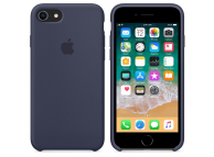 Husa silicon TPU Apple iPhone 8 MQGQ2ZM bleumarin Blister Originala