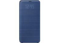 Husa textil Samsung Galaxy S9+ G965 LED View EF-NG965PLEGWW Albastra Blister Originala